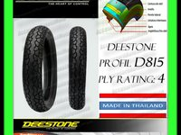 106 Lei ANVELOPA CAUCIUC 110 80 14 110x80x14 110 80 14 DEESTONE D815 PLY Rating 6 Tubeless Calitate Exceptionala MADE IN THAILAND Moto Scuter