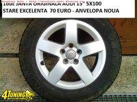 1BUC JANTA ORIGINALA AUDI 15 5X100 STARE EXCELENTA 70E