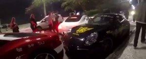 A vrut sa impresioneze Facebook-ul, insa a intrat cu AMG-ul intr-un Ferrari parcat regulamentar.