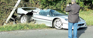Accident grav cu un Ferrari F50. Pagubele depasesc 1 milion euro
