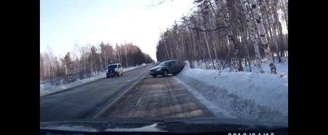 Accident stupid cu Skoda Octavia. Cum adica unde? In Rusia!