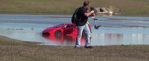Adio, 2000 CP: Momentul in care un Gallardo TT plonjeaza in apa