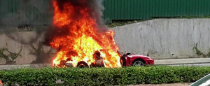 Adio, F430: Un nou Ferrari sfarseste in flacari
