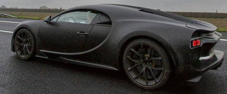 Adio secrete: Noul Bugatti Chiron pozeaza complet necamuflat. UPDATE FOTO!