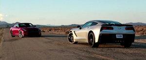 America vs Japonia: Noul Corvette Stingray, fata in fata cu Nissan GT-R Track Edition