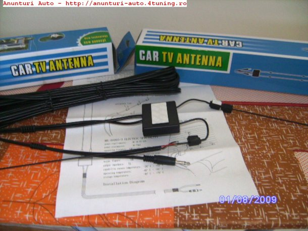 ANTENA TV CU AMPLIFICATOR PENTRU ORICE AUTO!!! 80 LEI