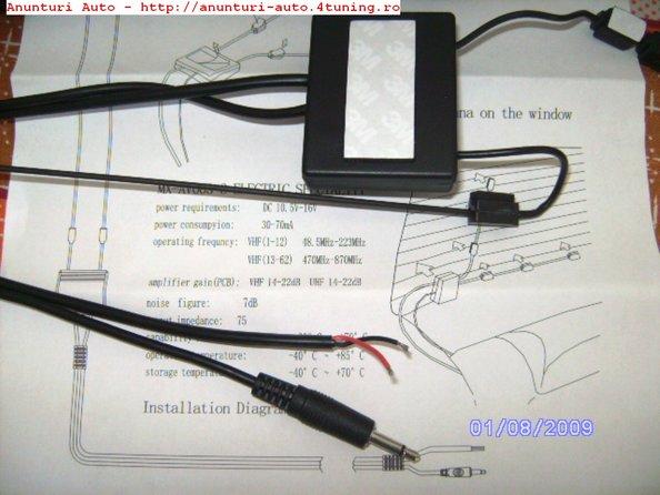 poze antena tv cu amplificator pentru orice auto!!! 80 lei