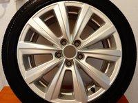 Anvelopa originala Bridgestone + Janta Mistral VW originala R16