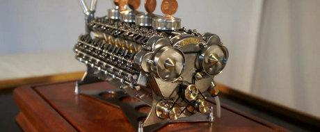 Asamblarea celui mai mic motor W32 din lume este arta pura