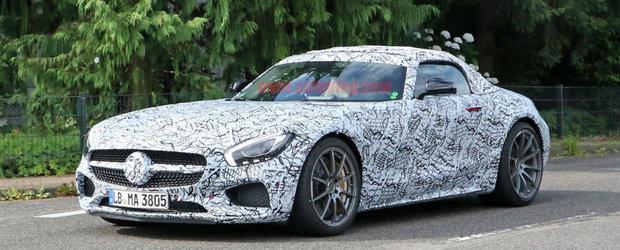 Astea sunt primele fotografii cu viitorul Mercedes-AMG GT C Roadster. Uite cum va arata decapotabila germana
