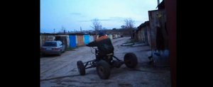 ATV home-made in Rusia cu motor de motocicleta