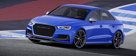 Audi A3 clubsport quattro: 525 CP si 310 km/h intr-un sedan de clasa compacta