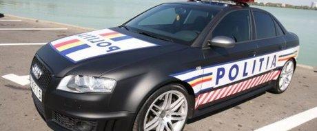 Audi RS4 de 500 cp, cea mai puternica masina din dotarea Politiei Romane