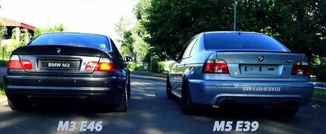 Batalia evacuarilor: BMW M3 E46 vs. BMW M5 E39. Care suna mai bine?