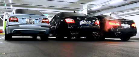 Batalia evacuarilor BMW: M5 E39 vs M5 E60 vs M5 F10. Care suna mai bine?
