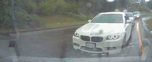 BMW M5 vs. ploaie: BMW - zero, PLOAIE - unu
