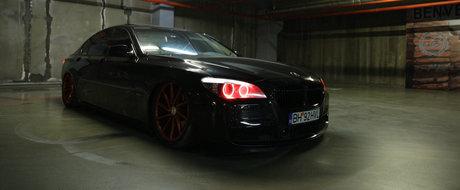 BMW Seria 7 MURDER Bagged Black cu jante Vossen CV-T in Oradea, by KYD