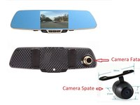 Camera Auto DVR B600 Oglinda, Dual Cam, Full HD