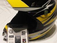 Casca deosebita Enduro Motocross + cadou Mp3 player memorie 4gb