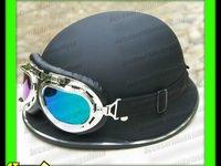 Casca Moto German Chopper Nazy Style Neamt WW2 Negru Mat Metal Ring Marimi M L