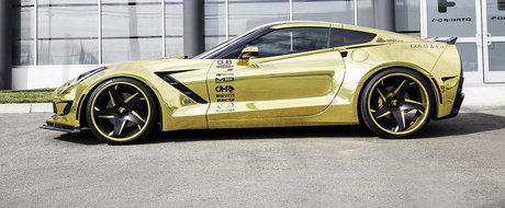 Ce-ai zice de un Corvette cromat si cu wide-body?