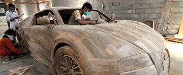 Cel mai ieftin Bugatti Veyron costa 3.300 dolari si este din... lemn