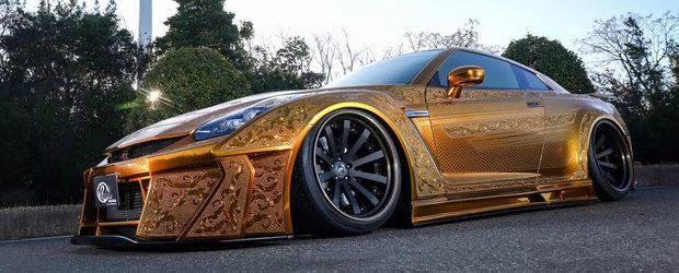 Cel mai nonconformist Nissan GT-R din lume ne arata caroseria sa gravata