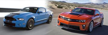 Chevrolet Camaro ZL1 versus Shelby GT500
