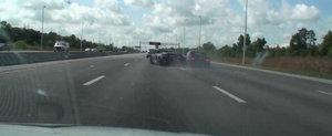 Coliziune la mare viteza intre un Audi R8 si un Mercedes SL