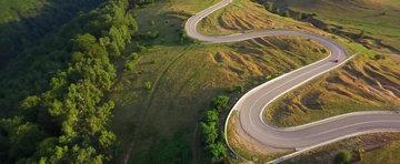 Cum se vede Transalpina din drona