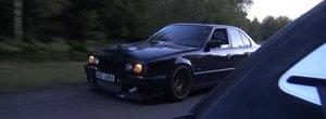 Cursa anului: un Bugatti Veyron provoaca un BMW E34 vechi de 25 de ani