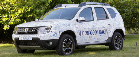 Dacia a vandut masina cu numarul 4.000.000 - este un Duster vandut in Franta