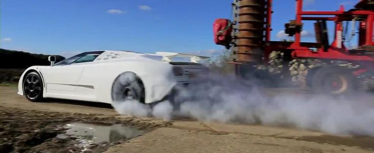 Demonstratie de forta la bordul unui Bugatti EB110 SuperSport