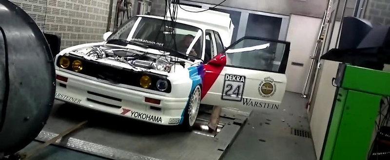 Dezastru pe dyno: Un BMW E30 Turbo e avariat de o explozie de pneu
