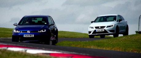 Duel pe circuit: SEAT Leon Cupra 280 vs. Volkswagen Golf R