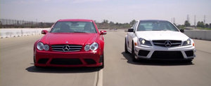Duelul generatiilor: Mercedes CLK63 AMG Black Series vs Mercedes C63 AMG Coupe Black Series