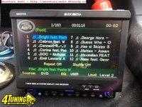 DVD CD Player auto retractabil touchscreem usb mp3 1din cu iesire Subwoofer amplificator ( cu iphone , laptop , tableta )