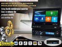 DVD CU GPS ECRAN TFT 5'' MOTORIZAT CAR KIT USB SD DIVX 1399 LEI