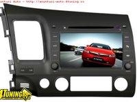 Dvd Gps Auto Navigatie Dedicata Honda Civic Sedan Navd C044 PLATFORMA S100 PROCESOR DUAL CORE A8 1GHZ 512 DDR 2 DVD GPS TV DVR CARKIT PRELUARE AGENDA TELEFONICA MODEL 2014