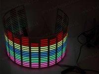 Egalizator LED lumina multicolora RGB Sticker 90cm x 25cm panou autocolant