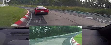 Experienta face diferenta: Un Megane RS se tine scai la Nurburgring de un 458 Speciale