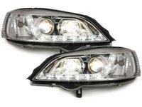 Faruri DAYLINE Opel Astra G 98-04 lumini de zi LED Chrom