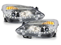 Faruri DAYLINE Opel Corsa D 06+ Semanl LED, crom