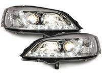 Faruri LED DAYLINE Opel Astra G 98-04 chrom