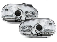 Faruri LED VW Golf 4 97-04 crom