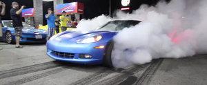 Festival de burnout-uri si masini tunate la o benzinarie din America