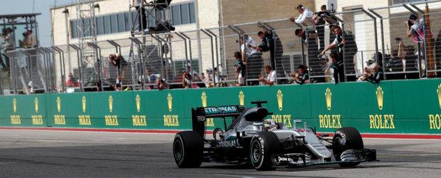 Hamilton revine in lupta pentru titlu dupa victoria de la Austin. Podiumul completat de Rosberg si Ricciardo