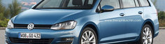 Iata cum ar putea arata noul Volkswagen Golf VII Estate