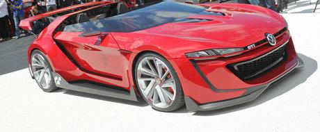 IMAGINI REALE: Noul VW GTI Roadster Vision prinde viata la Worthersee 2014