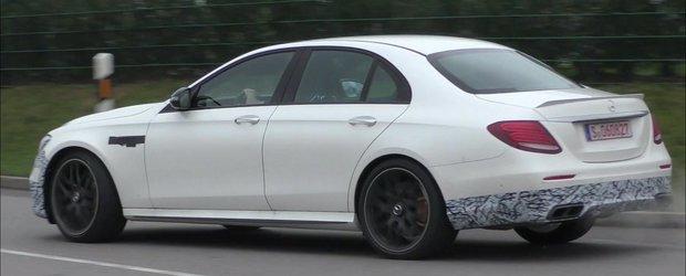 Inca putin si se lanseaza. Uite cum mai arata prototipul noului Mercedes E63 AMG